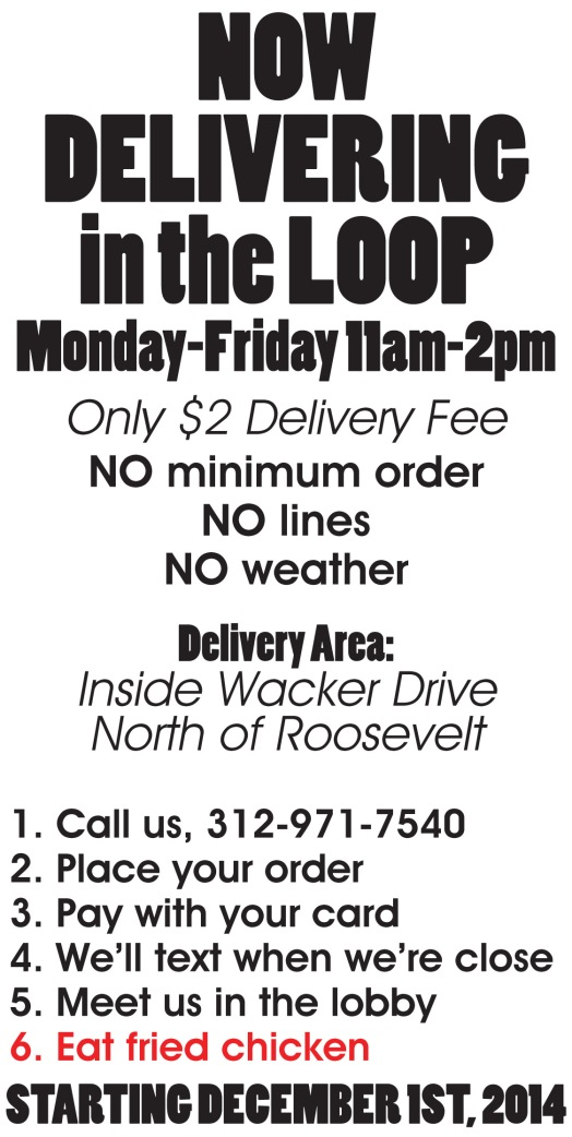 Delivery Menu Front